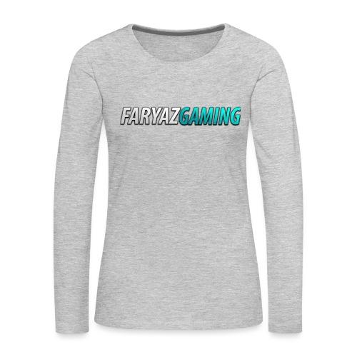 FaryazGaming Theme Text - Women's Premium Slim Fit Long Sleeve T-Shirt