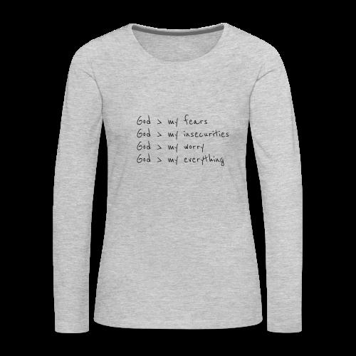 He is Greater - Women's Premium Long Sleeve T-Shirt