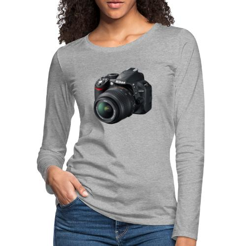 photographer - Women's Premium Slim Fit Long Sleeve T-Shirt