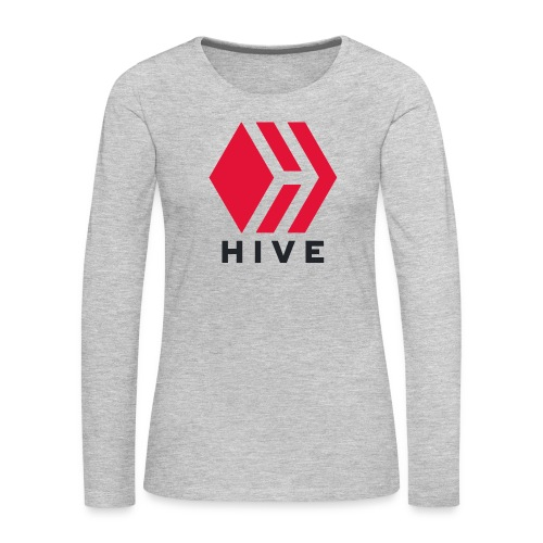 Hive Text - Women's Premium Slim Fit Long Sleeve T-Shirt