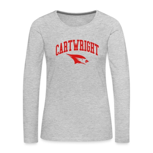 Cartwright College Logo - Women's Premium Slim Fit Long Sleeve T-Shirt
