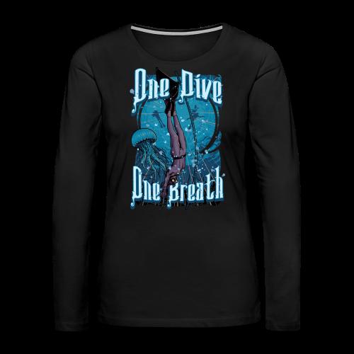 One Dive One Breath Freediving - Women's Premium Long Sleeve T-Shirt