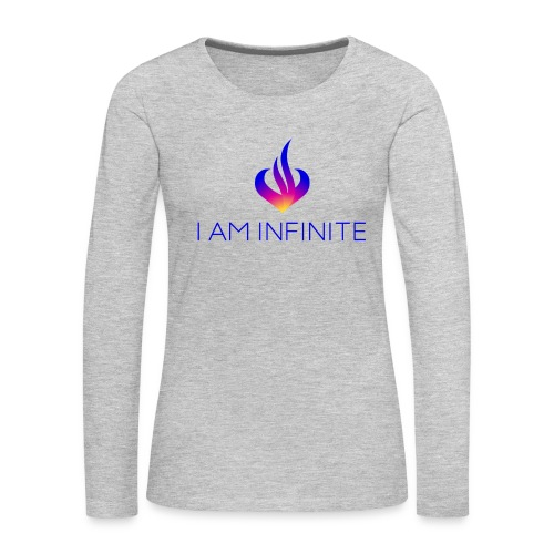 I Am Infinite - Women's Premium Slim Fit Long Sleeve T-Shirt
