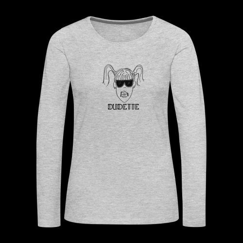 Dudette Head 1 - Women's Premium Slim Fit Long Sleeve T-Shirt