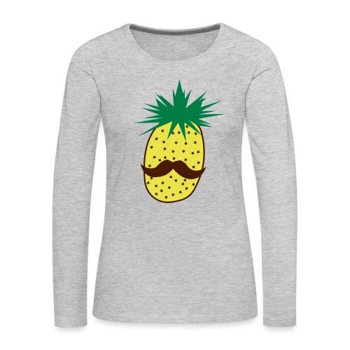 LUPI Pineapple - Women's Premium Slim Fit Long Sleeve T-Shirt