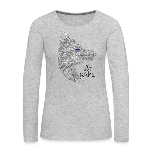 Blue eye dragon - Women's Premium Long Sleeve T-Shirt
