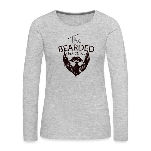 The bearded man - Women's Premium Slim Fit Long Sleeve T-Shirt
