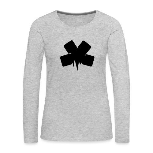 PixelSashay - Black Logo - Women's Premium Long Sleeve T-Shirt