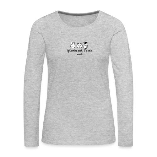 SMILE BACK - Women's Premium Slim Fit Long Sleeve T-Shirt