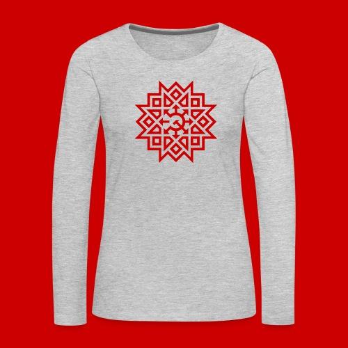 Chaos Communism - Women's Premium Slim Fit Long Sleeve T-Shirt