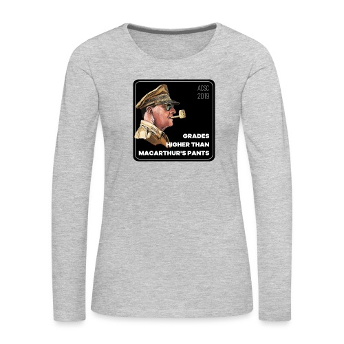 MacArthurs Grades - Women's Premium Slim Fit Long Sleeve T-Shirt
