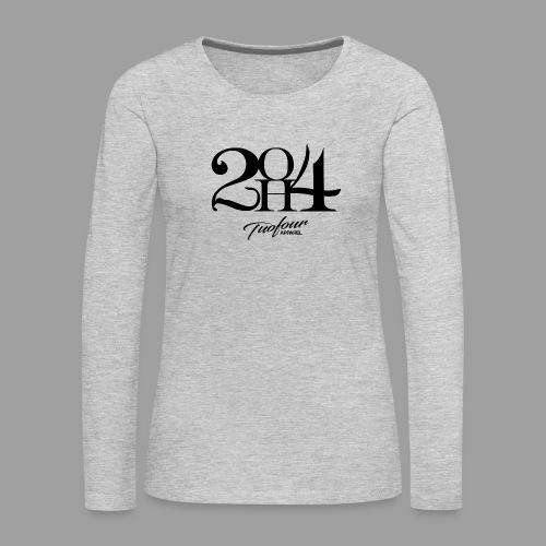 2OH4 - Women's Premium Slim Fit Long Sleeve T-Shirt