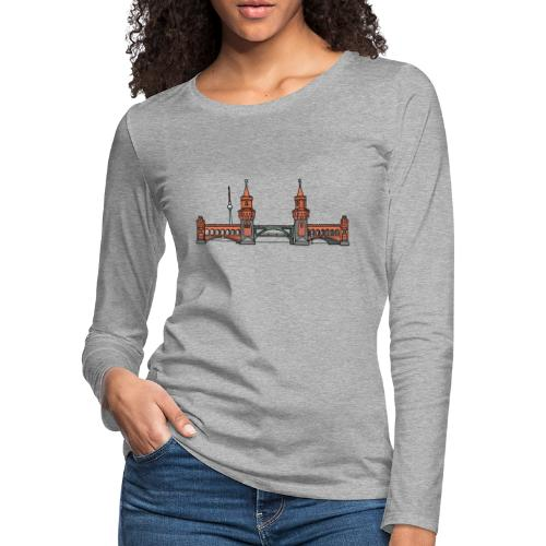 Oberbaum Bridge Berlin - Women's Premium Slim Fit Long Sleeve T-Shirt