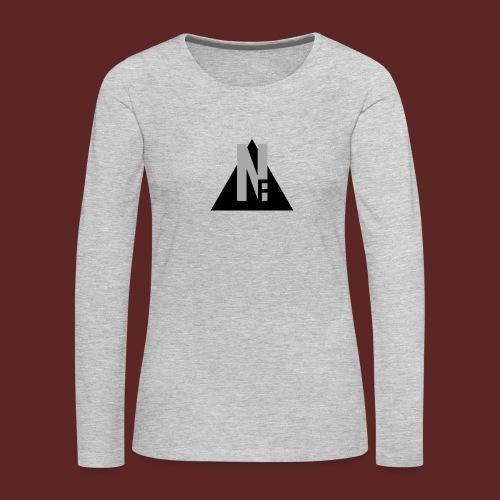 Basic NF Logo - Women's Premium Slim Fit Long Sleeve T-Shirt