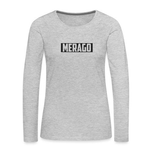 Transparent_Merago_Text - Women's Premium Long Sleeve T-Shirt