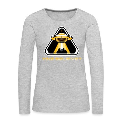 Yinz Believe? - Women's Premium Slim Fit Long Sleeve T-Shirt