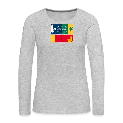 Creole Woman Louisiana Cultural Flag - Women's Premium Long Sleeve T-Shirt