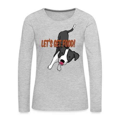 Foodie Dog Border Collie - Women's Premium Long Sleeve T-Shirt