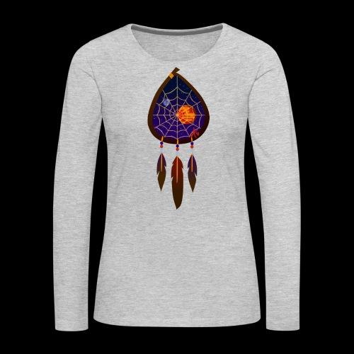 Dreamcatcher Space Inspiring 2 - Women's Premium Slim Fit Long Sleeve T-Shirt