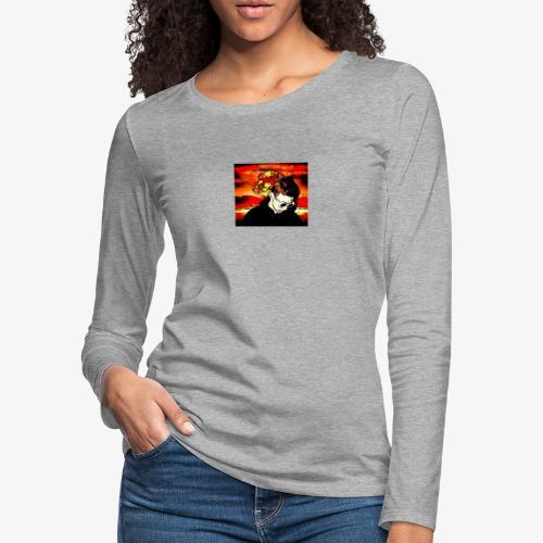 Cartoon Graphical - Women's Premium Slim Fit Long Sleeve T-Shirt