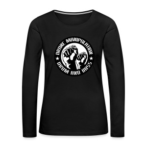 Drone Manipulation FISTS UP - Women's Premium Long Sleeve T-Shirt