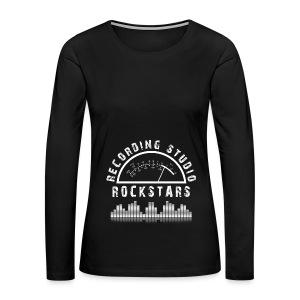 Recording Studio Rockstars - White Logo - Women's Premium Long Sleeve T-Shirt