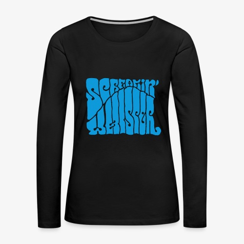 Screamin' Whisper Retro Logo - Women's Premium Long Sleeve T-Shirt