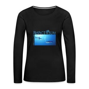 Respect The Shark - Women's Premium Long Sleeve T-Shirt