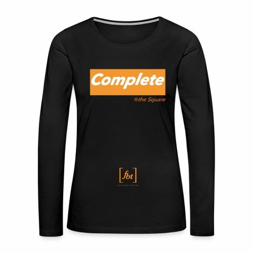Complete the Square [fbt] - Women's Premium Long Sleeve T-Shirt