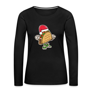 Taco Santa Hat Shirt - Women's Premium Long Sleeve T-Shirt