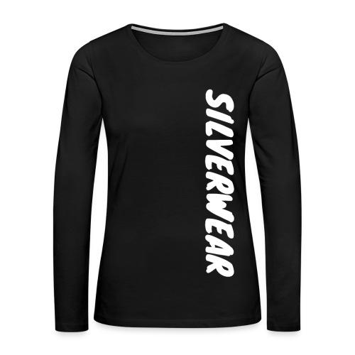 Silverwear vertical text - Women's Premium Long Sleeve T-Shirt