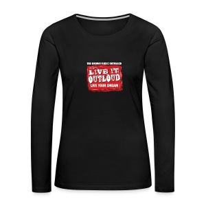 Live It OutLoud Logo - Women's Premium Long Sleeve T-Shirt