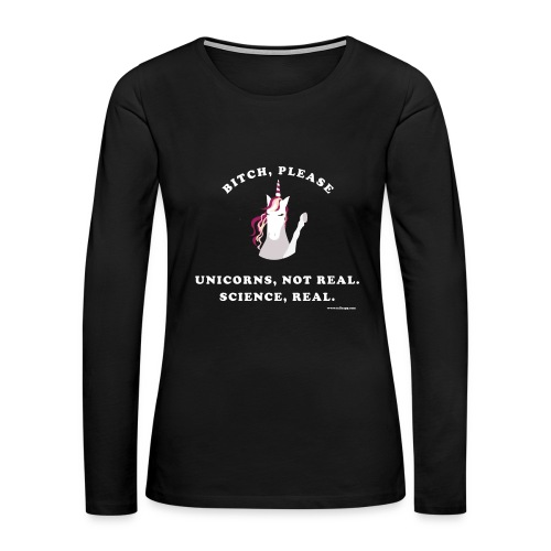 Unicorn loves science - Women's Premium Long Sleeve T-Shirt