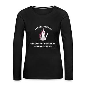 Unicorn loves science - Women's Premium Long Sleeve T-Shirt