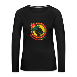 Cannabis On Fire 420 Power - Women's Premium Long Sleeve T-Shirt