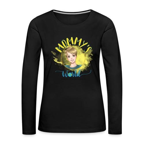 Mommys World Main Logo - Women's Premium Long Sleeve T-Shirt