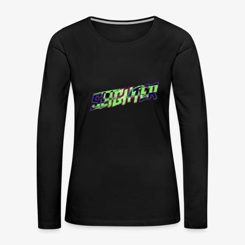 Retro Logo Glitch - Women's Premium Long Sleeve T-Shirt