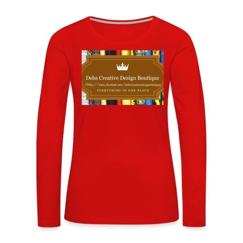 Debs Creative Design Boutique with site - Women's Premium Long Sleeve T-Shirt