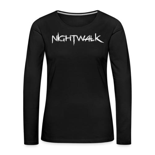 Nightwalk Logo White - Women's Premium Long Sleeve T-Shirt