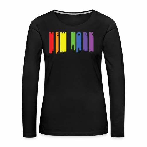 New York design Rainbow - Women's Premium Long Sleeve T-Shirt