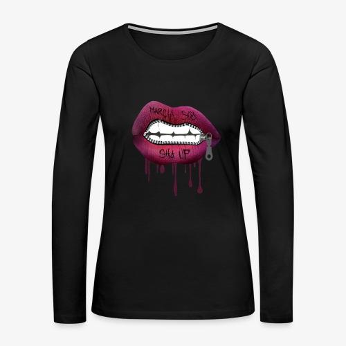 women mouth - Women's Premium Long Sleeve T-Shirt