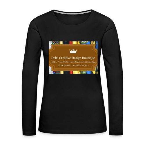 Debs Creative Design Boutique with site - Women's Premium Slim Fit Long Sleeve T-Shirt