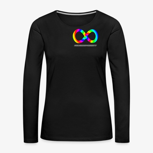 Neurodiversity with Rainbow swirl - Women's Premium Long Sleeve T-Shirt