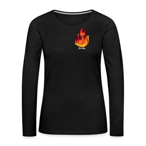 Scorchy White Logo - Women's Premium Long Sleeve T-Shirt