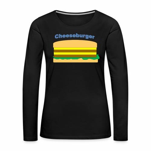 cheeseburger - Women's Premium Long Sleeve T-Shirt