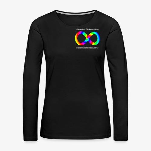 Embrace Neurodiversity with Swirl Rainbow - Women's Premium Long Sleeve T-Shirt