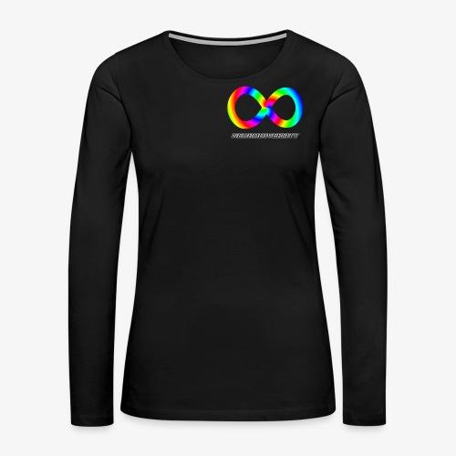 Neurodiversity with Rainbow swirl - Women's Premium Long Sleeve T-Shirt