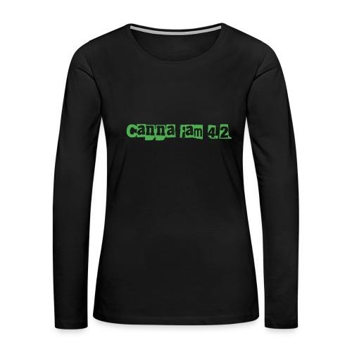 Canna fam 4.2 - Women's Premium Long Sleeve T-Shirt