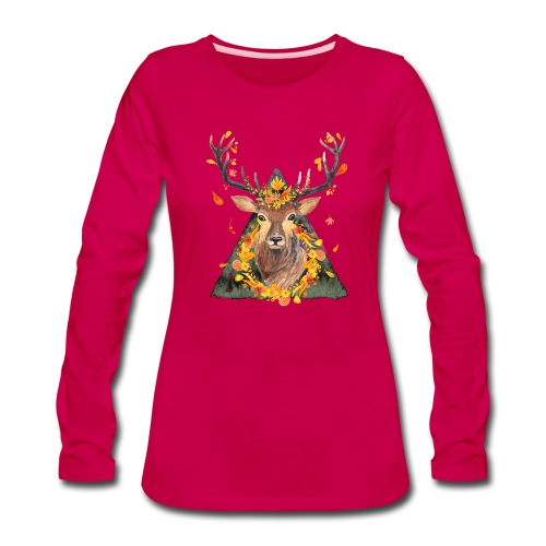 The Spirit of the Forest - Women's Premium Slim Fit Long Sleeve T-Shirt