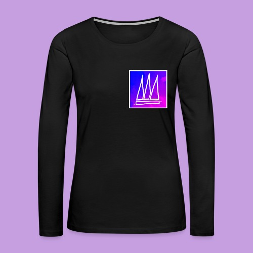 Abstract Banner - Women's Premium Long Sleeve T-Shirt